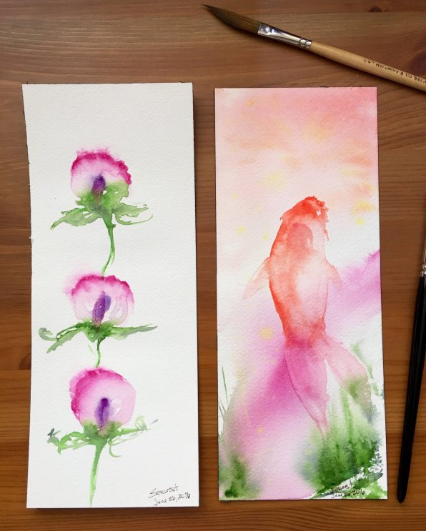 Holbein Palm Box Plus watercolor paintings by Jessica Seacrest