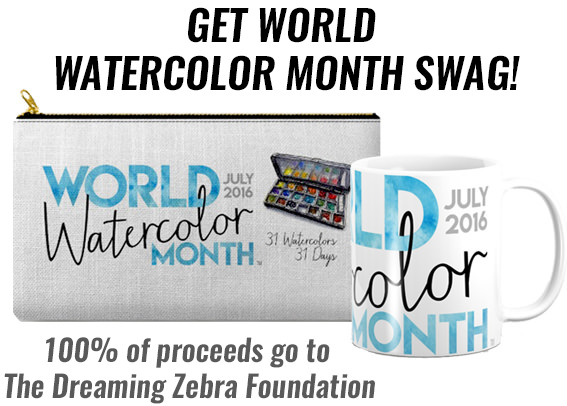 World Watercolor Month July 2016 Swag Society6 Shop
