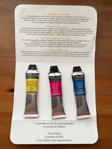 Sennelier sample watercolor tubes
