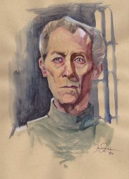 Doodlewash and Watercolor Sketch by Danny Beck of Grand Moff Tarkin from Star Wars