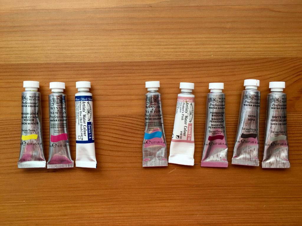Winsor & Newton 5 ml paint tupes