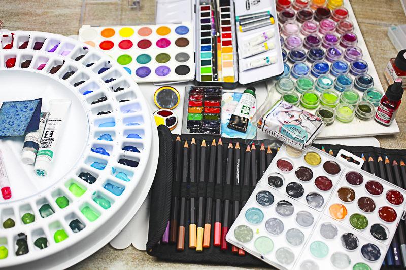 Doodlewash: Watercolor supplies of Jane Davenport