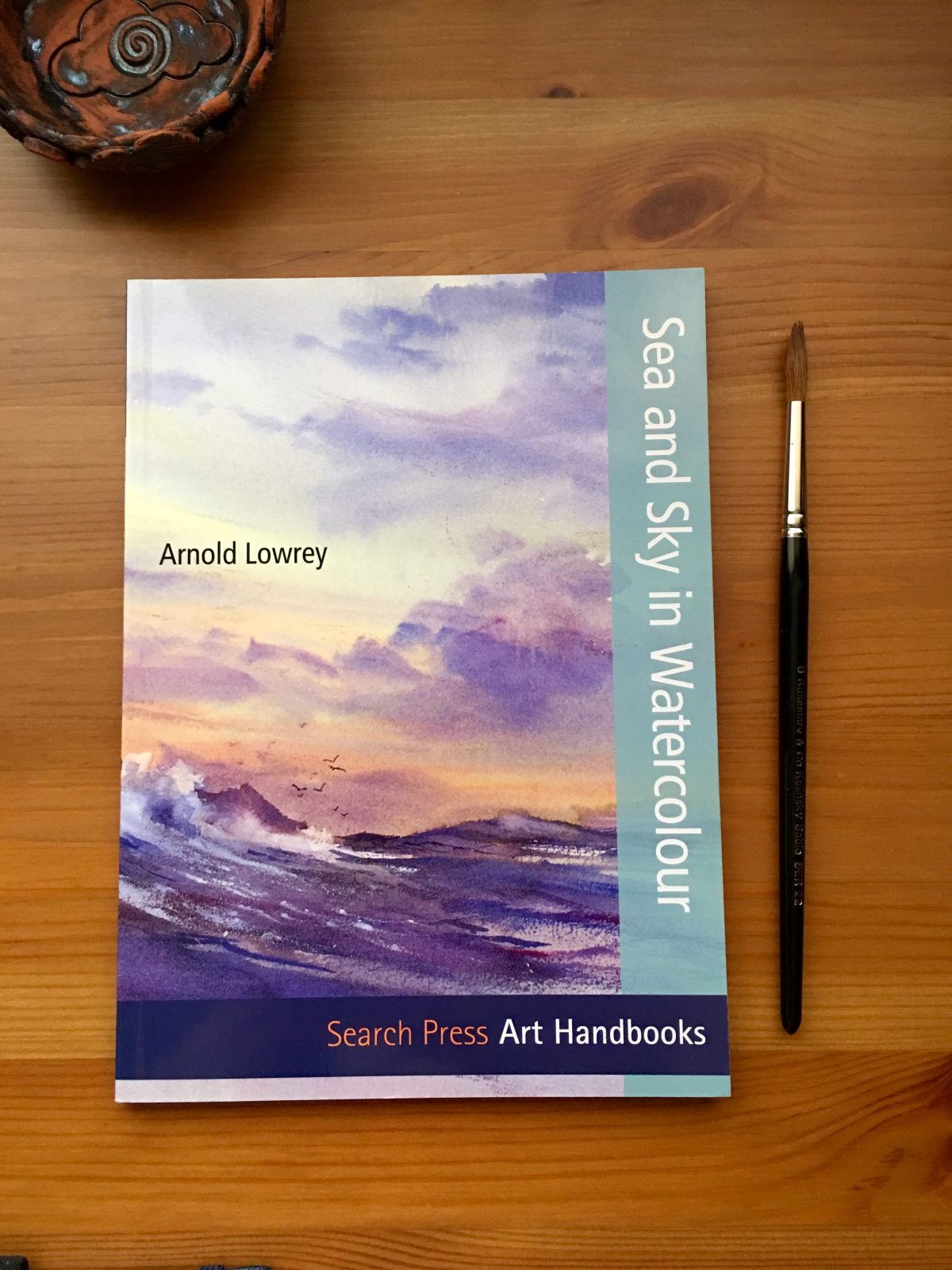 Arnold Lowrey sea and sky in watercolour book
