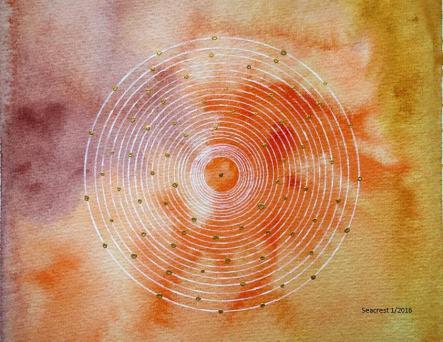 Bindu mandala painting by Jessica Seacrest