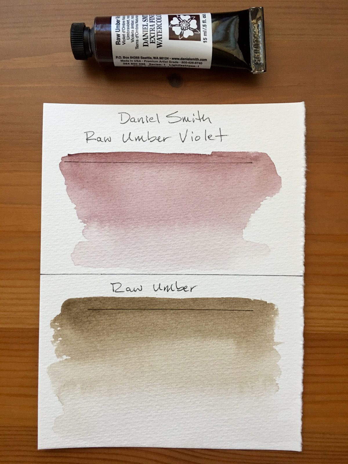 Daniel Smith Raw Umber Violet and Raw Umber