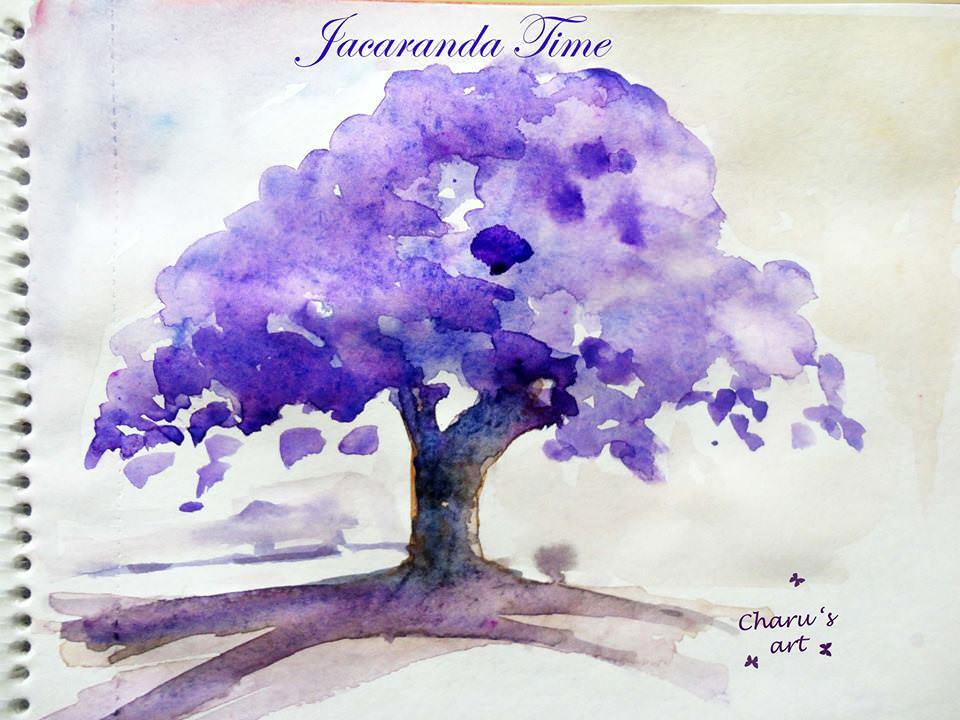 Doodlewash - Watercolor by Charu Jain of Jacaranda Time