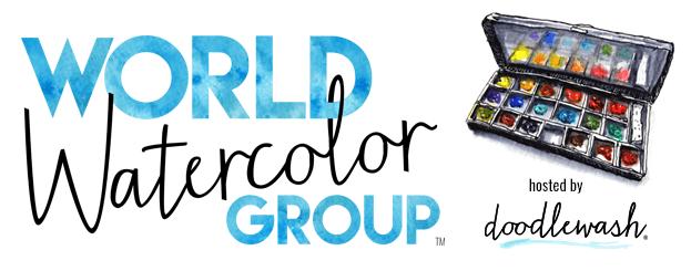 World Watercolor Group Logo Header by Doodlewash