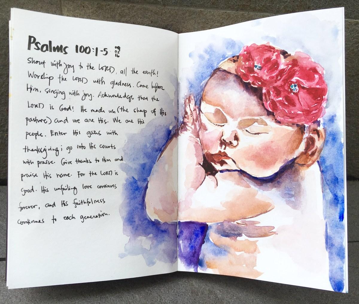 #Doodlewash - #Watercolor by Sarah Ongsun - baby - #WorldWatercolorGroup