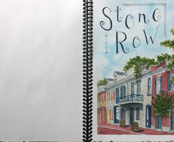 #Doodlewash - Homemade Sketchbook by Annie Glacken
