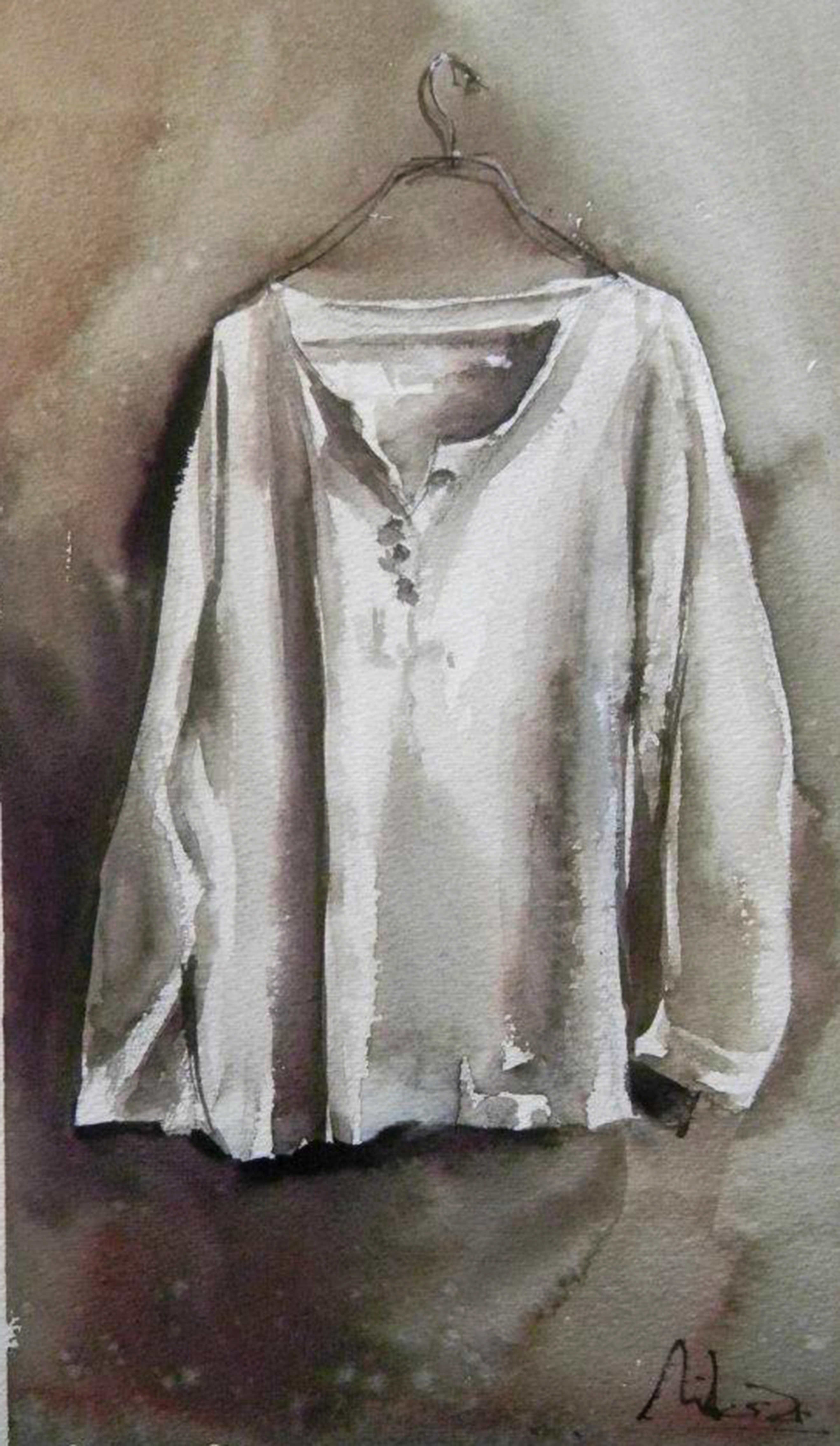 #WorldWatercolorGroup - watercolor by Dalibor Popovic Miksa of clothes - #doodlewash