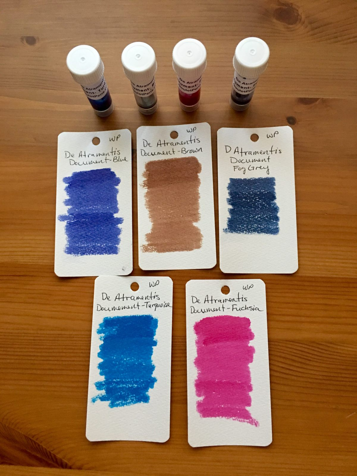 de atramentis document waterproof fountain pen ink swatch samples