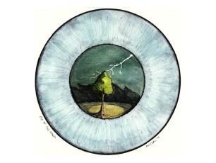 #WorldWatercolorGroup - Watercolor - Eye of the Storm by Adriana Vidal - #doodlewash