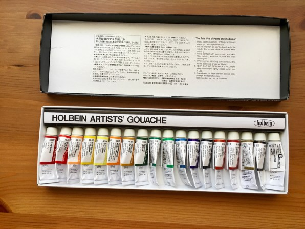 holbein artists gouache wet of 18 5ml tubes