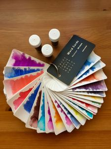 Mnemosyne word card fountain pen ink sample swatches