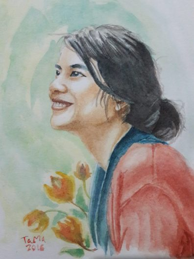 #WorldWatercolorGroup - Watercolor portait by Bastian Adi Pratama - #doodlewash