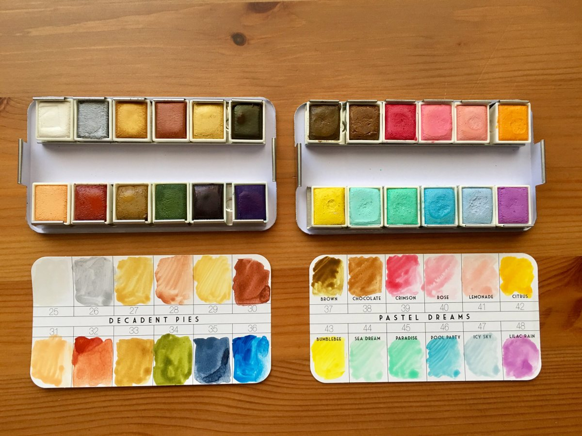 Prima Marketing watercolor confections pastel dreams and decadent pies watercolor pans