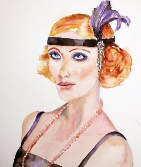 #WorldWatercolorGroup - watercolor of seductrice by Agnès McLaughlin - #doodlewash