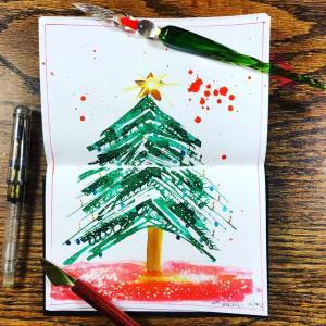 Christmas Tree Sketch by Jessica Seacrest