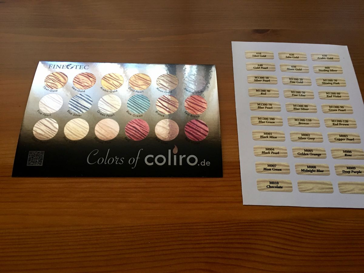 Coliro Colors, Finetec Watercolors