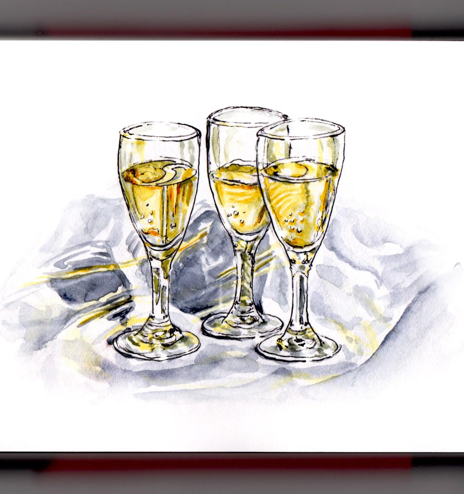 Doodlewash® ~ Champagne Toast - Happy New Year!