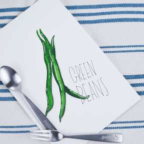 #WorldWatercolorGroup - watercolor sketch by Keiko Weafer Japan of green beans - #doodlewash