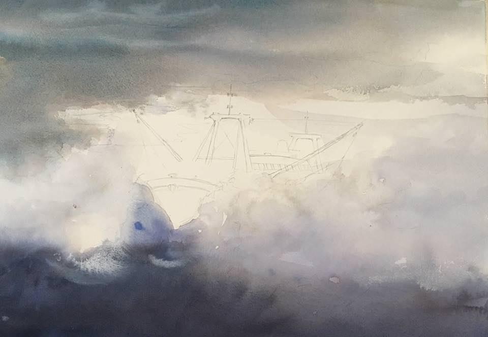 #WorldWatercolorGroup - Watercolor Process by Jan Min - #doodlewash