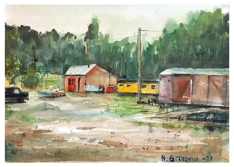 #WorldWatercolorGroup - Watercolor Painting by Niklas Granqvist - #doodlewash