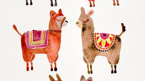 #WorldWatercolorGroup - Watercolor Art by Cat Coquillette - Alpacas - #doodlewash
