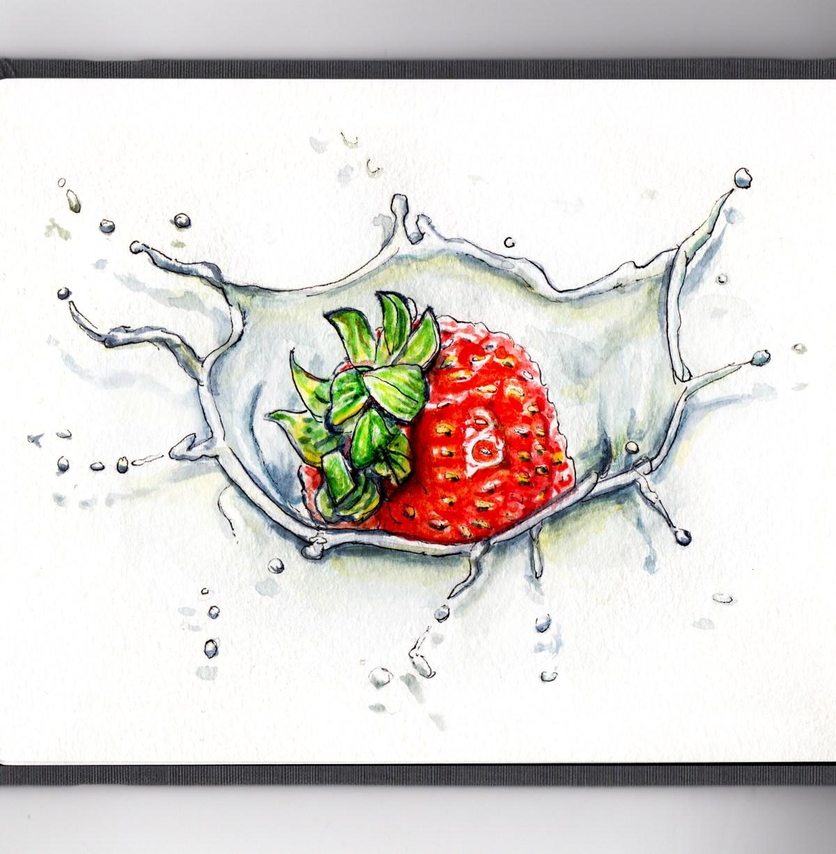 Day 15 - Strawberries and Cream Splash