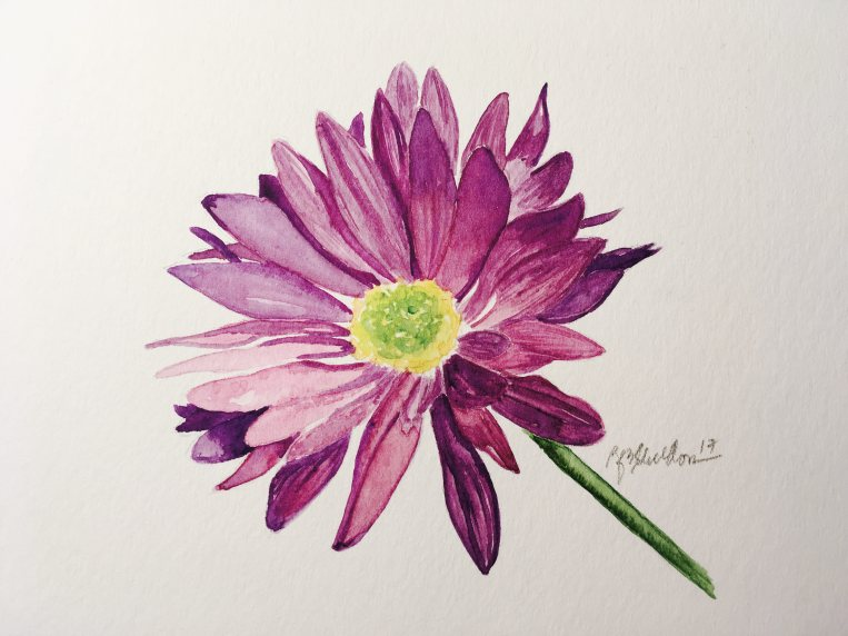 #WorldWatercolorGroup - Watercolor painting of flower by Rocelee F. Benedicto-Sheldon - #doodlewash