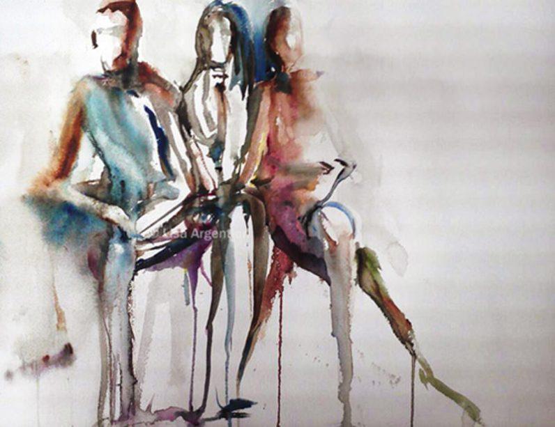 #WorldWatercolorGroup - Watercolor Painting by Lisa Argentieri - Nudes - #doodlewash
