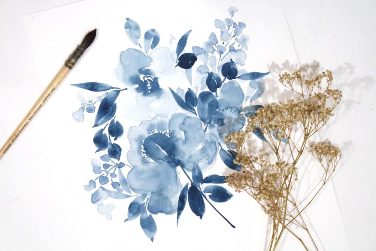#WorldWatercolorGroup - Watercolor painting by Jieyan Ow - Flowers - #doodlewash