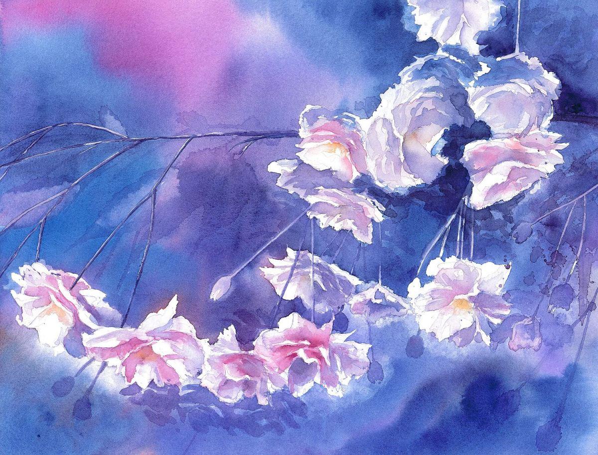 #WorldWatercolorGroup - Watercolor by Krzysztof Kowalski - Magic Glow - #doodlewash