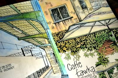 #WorldWatercolorGroup - Watercolor by Krzysztof Kowalski - Caffe Lawka Sketch - #doodlewash