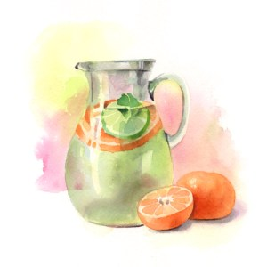 Tangerine Day 6/100 #100daysofrawfood Remember to hydrate! Keep a pitcher of water with you during t