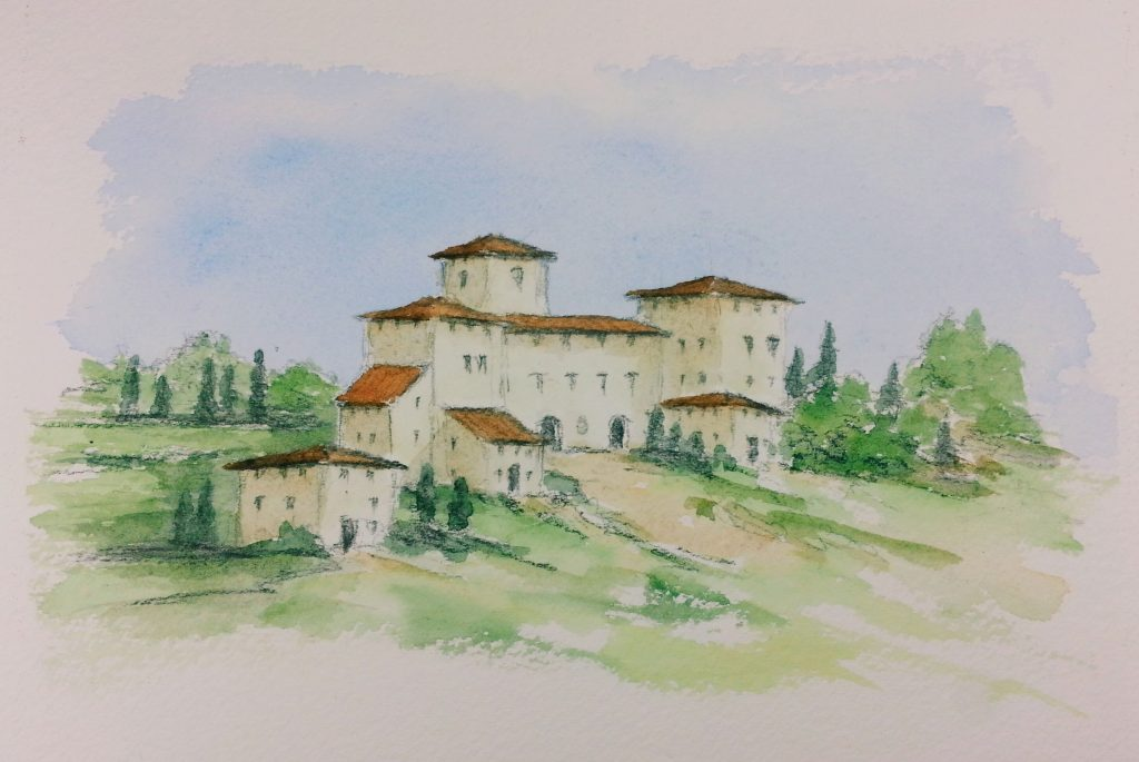 Can you paint too many Tuscan villas? Another villa