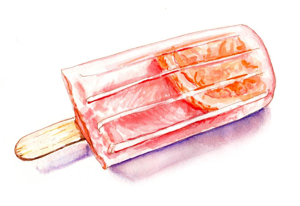 Day 22 - #WorldWatercolorGroup - Summer Frozen Treats Watercolor - #doodlewash