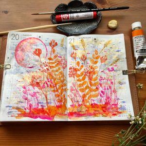 Watercolor in Hobonichi Techo Hobonichi