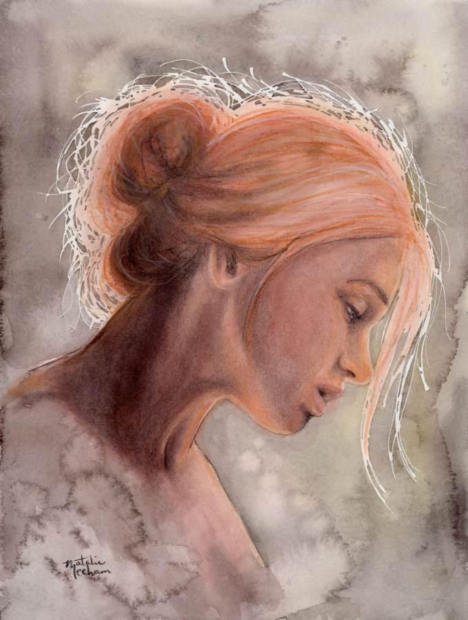 #WorldWatercolorGroup - Watercolor by Natalie Mecham - Inner Peace - #doodlewash