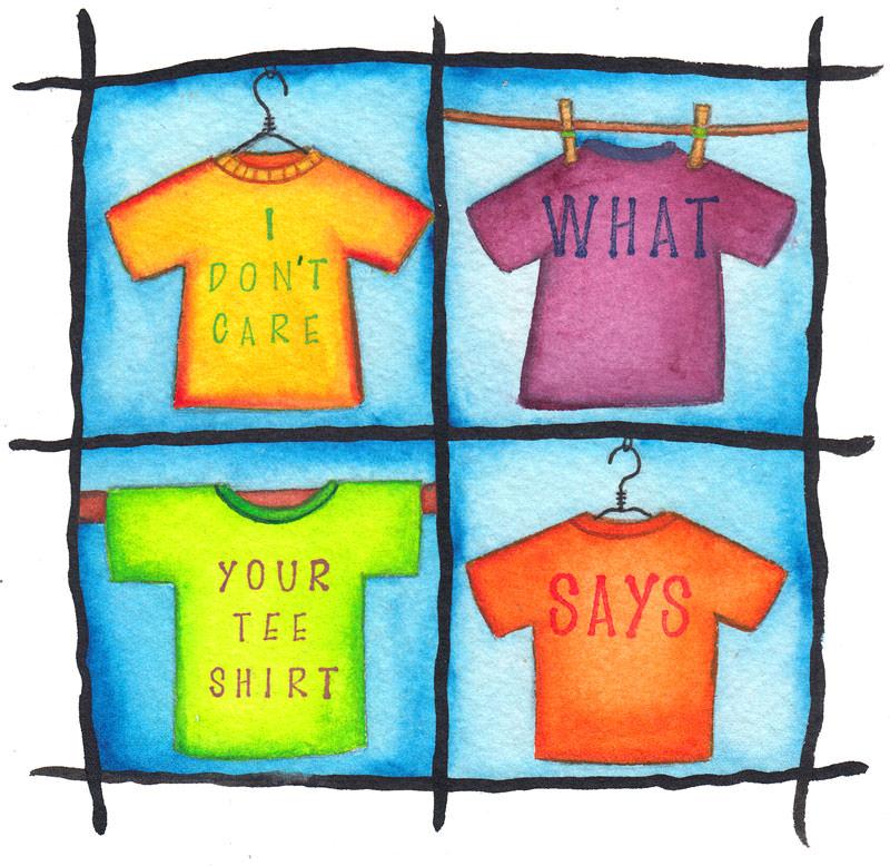 #WorldWatercolorGroup - Watercolor by Jessica Wesolek - Tee Shirt - #doodlewash