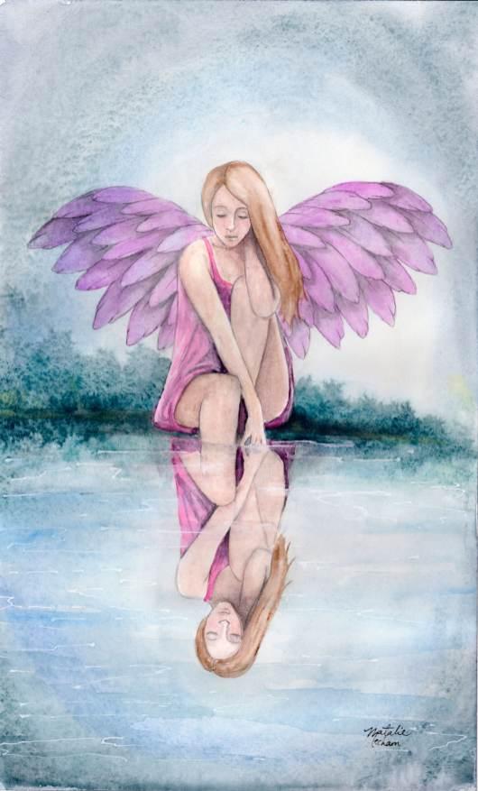#WorldWatercolorGroup - Watercolor by Natalie Mecham - Angel - #doodlewash