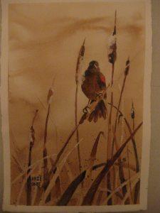 Painting with coffee…..Blackbird. jan 16 2015 002 (2)