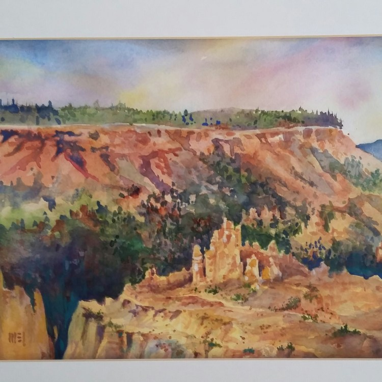 """Cedar Breaks"" quarter sheet arches 140 rough paper. If you are watching the news this i"