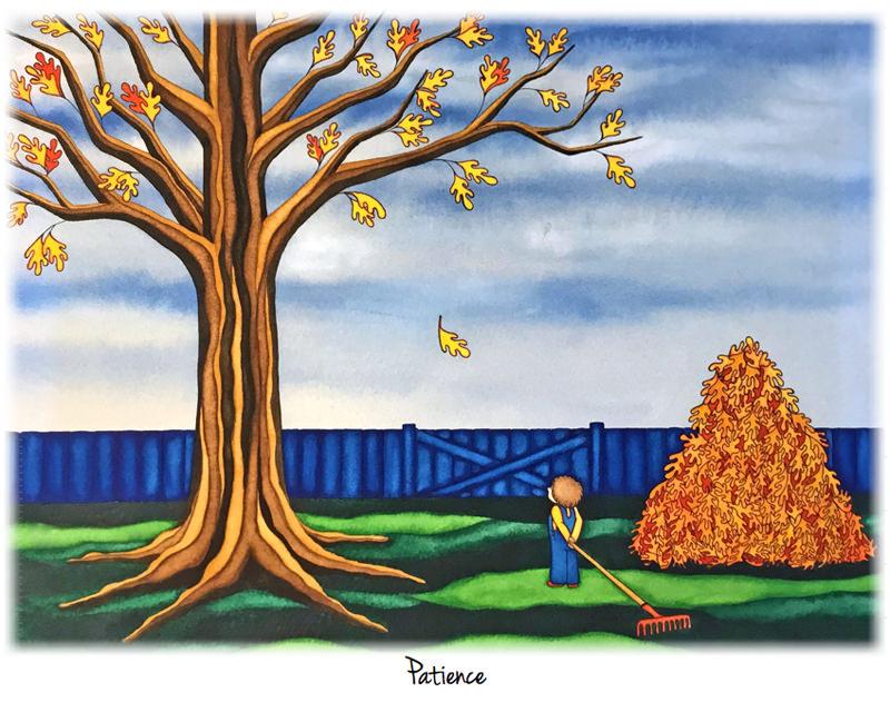 #WorldWatercolorGroup - Watercolor by Jessica Wesolek - Patience - #doodlewash