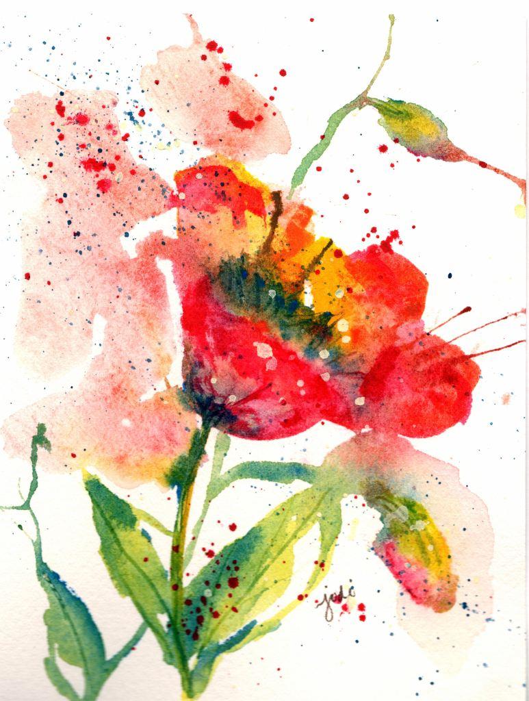 Poppy poppy watercolor