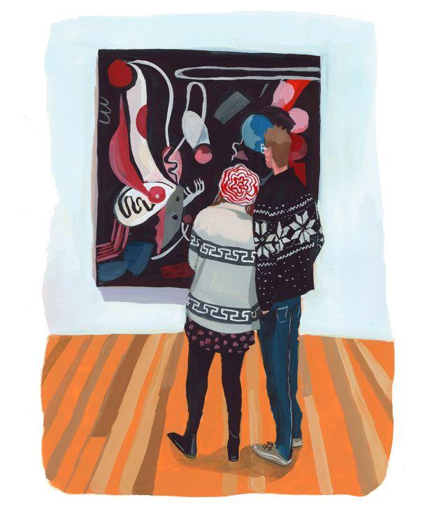#WorldWatercolorGroup - Art by Jenny Kroik - sweater love - #doodlewash