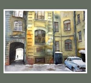 My hometown is St. Petersburg. двор
