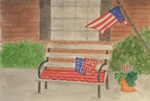 """Day 4 """"Red, White and Blue"""" 20170704_205440"""