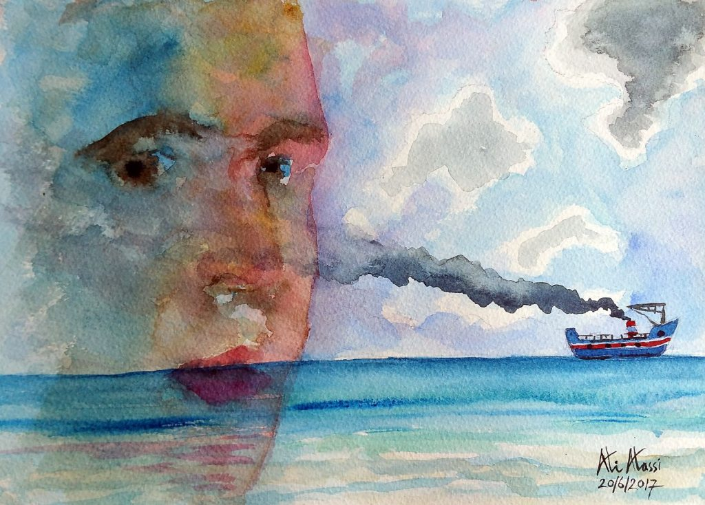 is Mr. Godot coming? watercolors on paper 30 x 21 cm 20170707_111744 (Large)