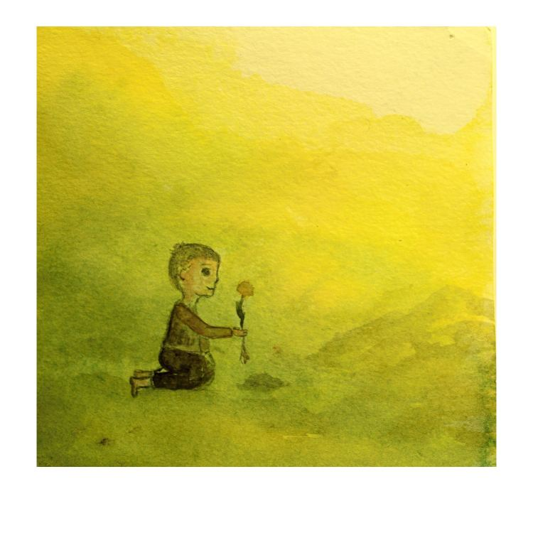 """Day 22 – I create small picture inspired by wonderful novel \""""The man who planted trees\"""